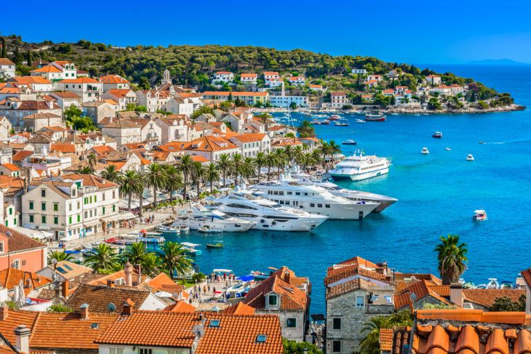 Croatie Hvar port