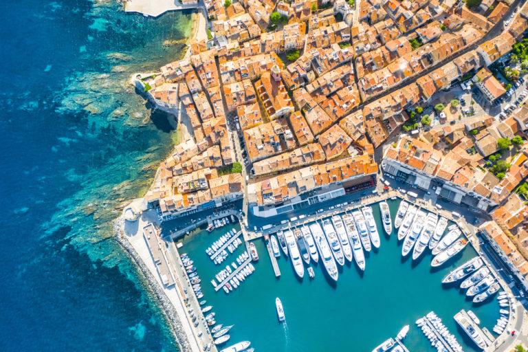 Saint-Tropez aerial view